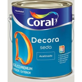 ACRILICO DECORA SEDA BRANCO 3,6L CORAL